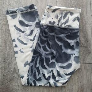lululemon athletica Pants - Lululemon Wunder Under Crop | Gray & White | 4